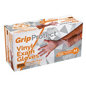 GripProtect® Vinyl Exam Gloves, Powder-Free
