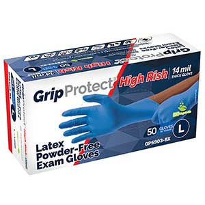 GripProtect® High Risk 14 mil Latex Powder-Free Exam Gloves